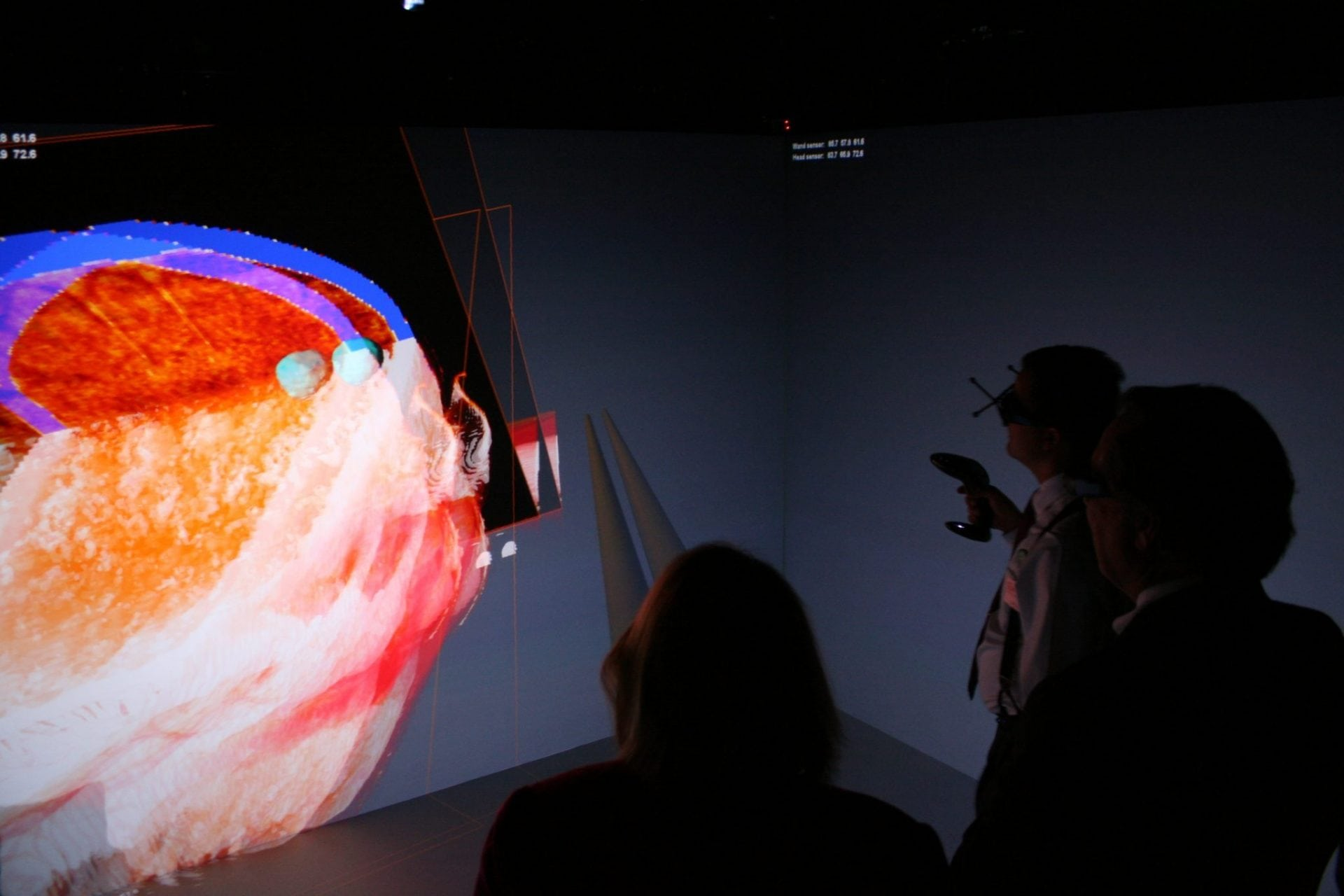 The University of Toledo College of Medicine has installed Barco's I-Space and CADWall as the cornerstone of its virtual immersive reality center. Image Credit: Barco