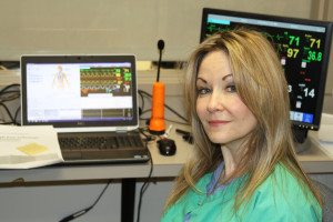 Project Director Suzanne M. Wright, PhD, in the simulation control room. (Photo: Virginia Commonwealth University)