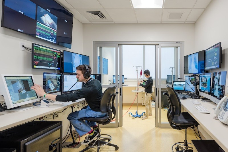 medical simulation control room