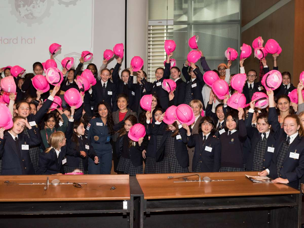 The UNESCO Thinkpink hard hat workshop took place at the ICAO conference.