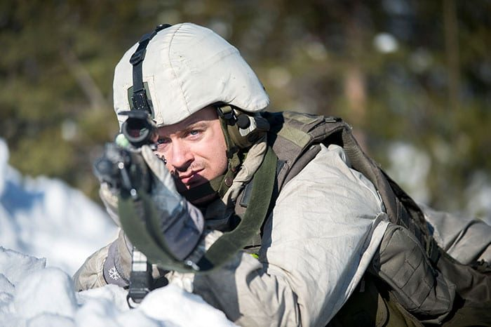 Swedish and US troops conduct winter warfare exercise in Boden, Sweden