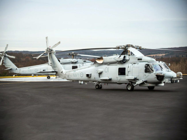 Sikorsky MH60R 'Romeo' maritime helicopters for the Royal Australian Navy.