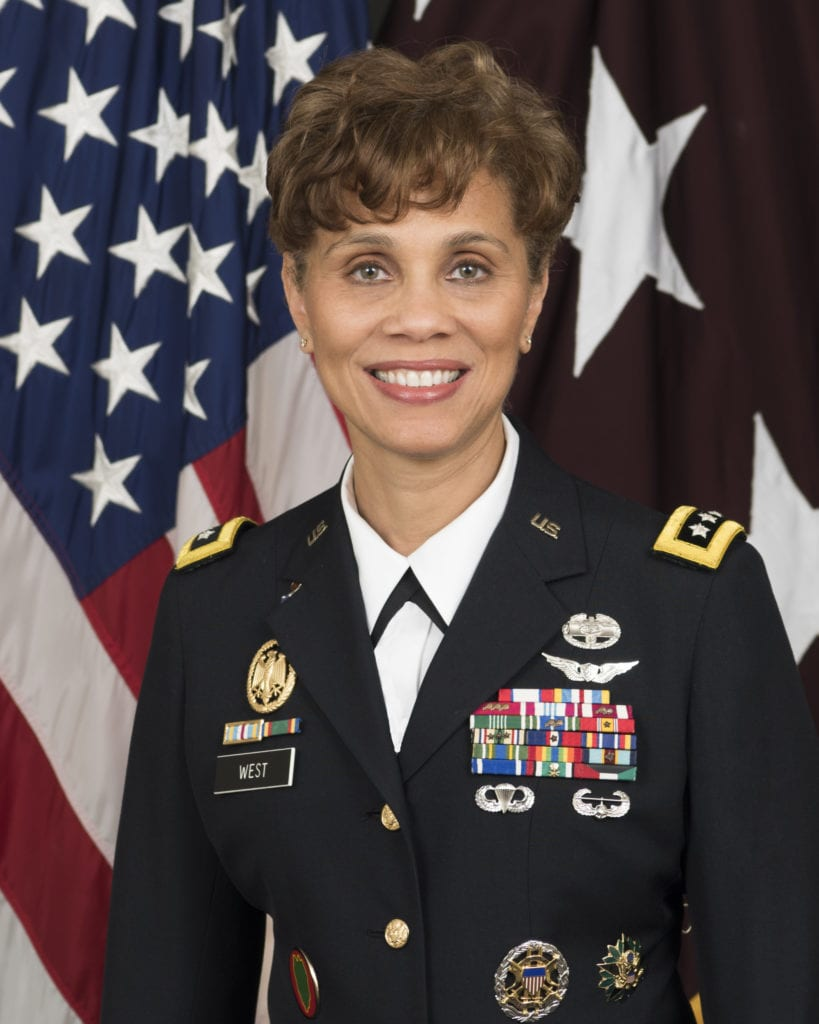 LTG Nadja Y. West, the 44th Surgeon General of the United States Army and Commanding General, US Army Medical Command. Source/credit: US Army Office of the Surgeon General