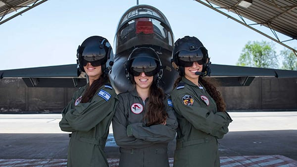 The Israeli Air Force has had female pilots for more than two decades, and last year named its first female squadron leader. Women also serve as simulator instructors, following eight months of specialised training. Image credit: IAF.