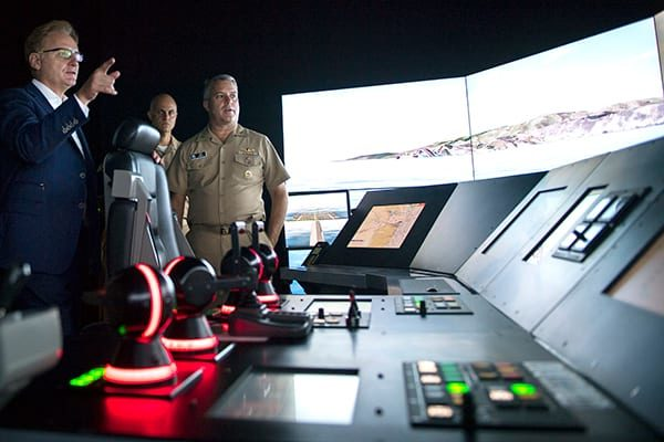 The US Navy is supplementing legacy-era simulators with new devices such as this Littoral Combat Ship part-task trainer.