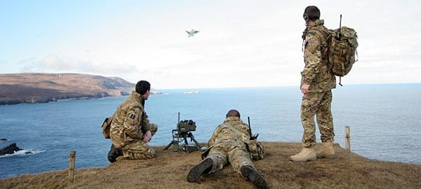 Exercise Terminal Strike training for Royal Artillery and Royal Armoured Corps Joint Terminal Attack Controllers (JTACs).