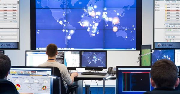 In 2017, SITA and Airbus joined forces to develop the Security Operations Center (SOC). Image credit: SITA/Airbus.