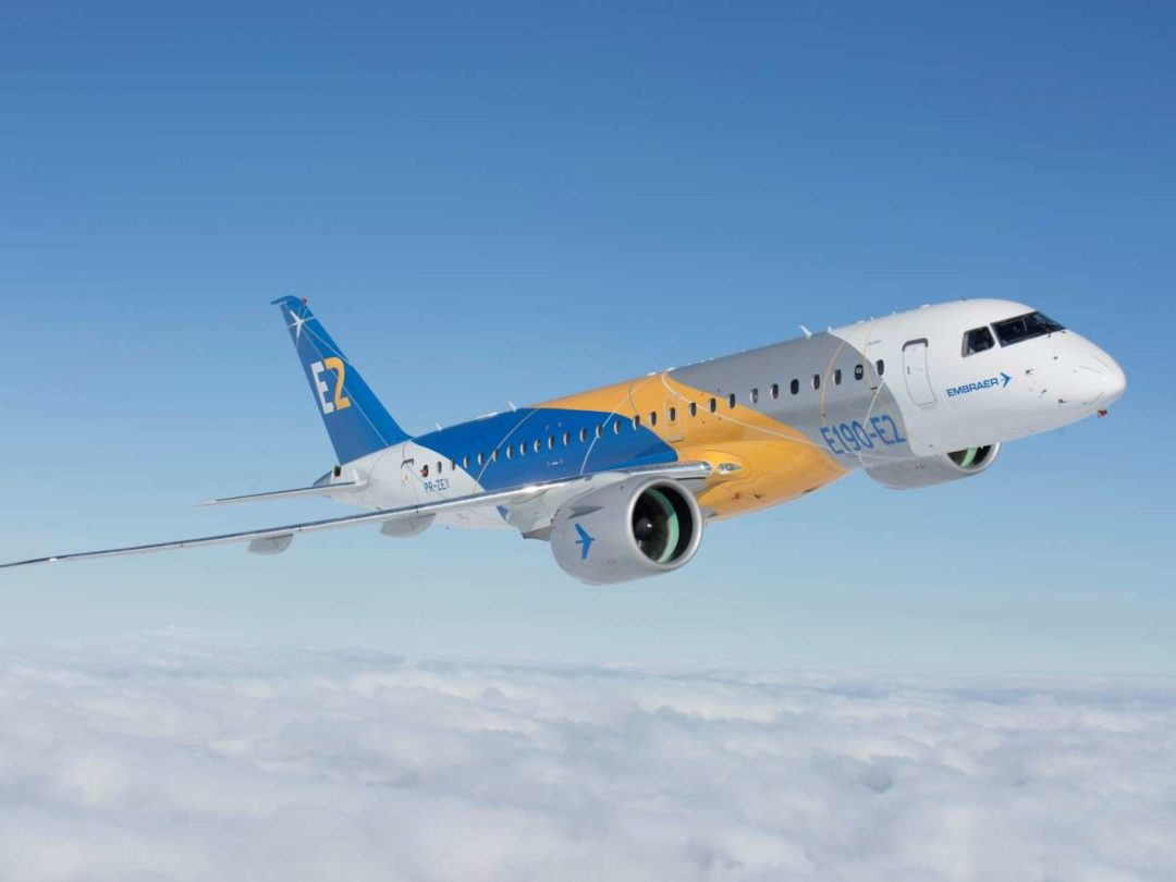 The E2, the key resource in the commercial aircraft joint venture between Embraer and Boeing, which is expected to be completed by the end of this year.