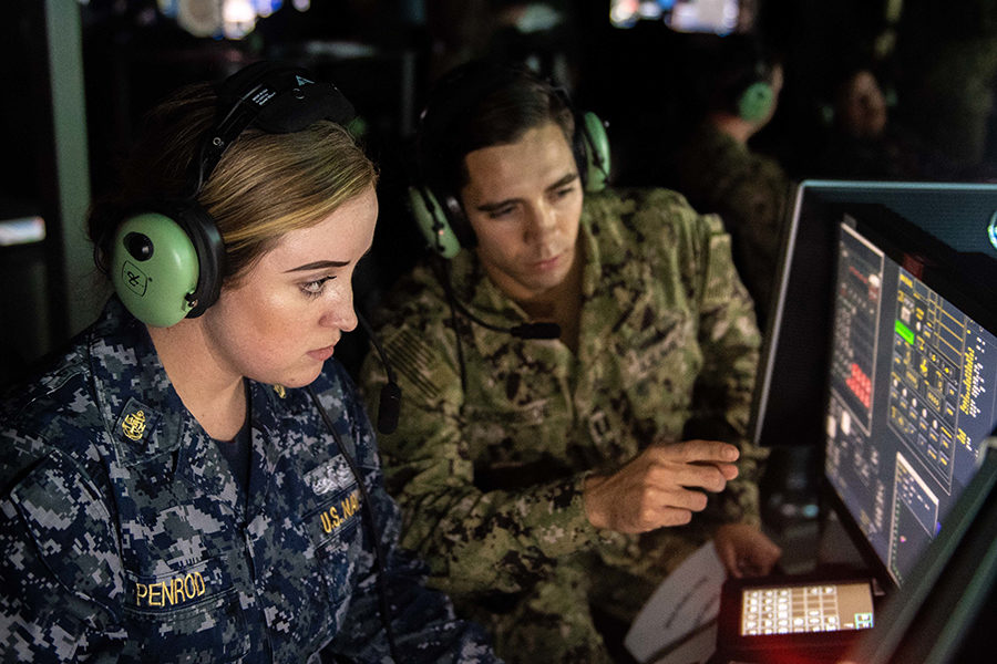 The STAVE-CS (Combat Systems) Solutions Combined Integrated Air & Missile Defense (IAMD) and Anti-Submarine Warfare (ASW) Trainer.