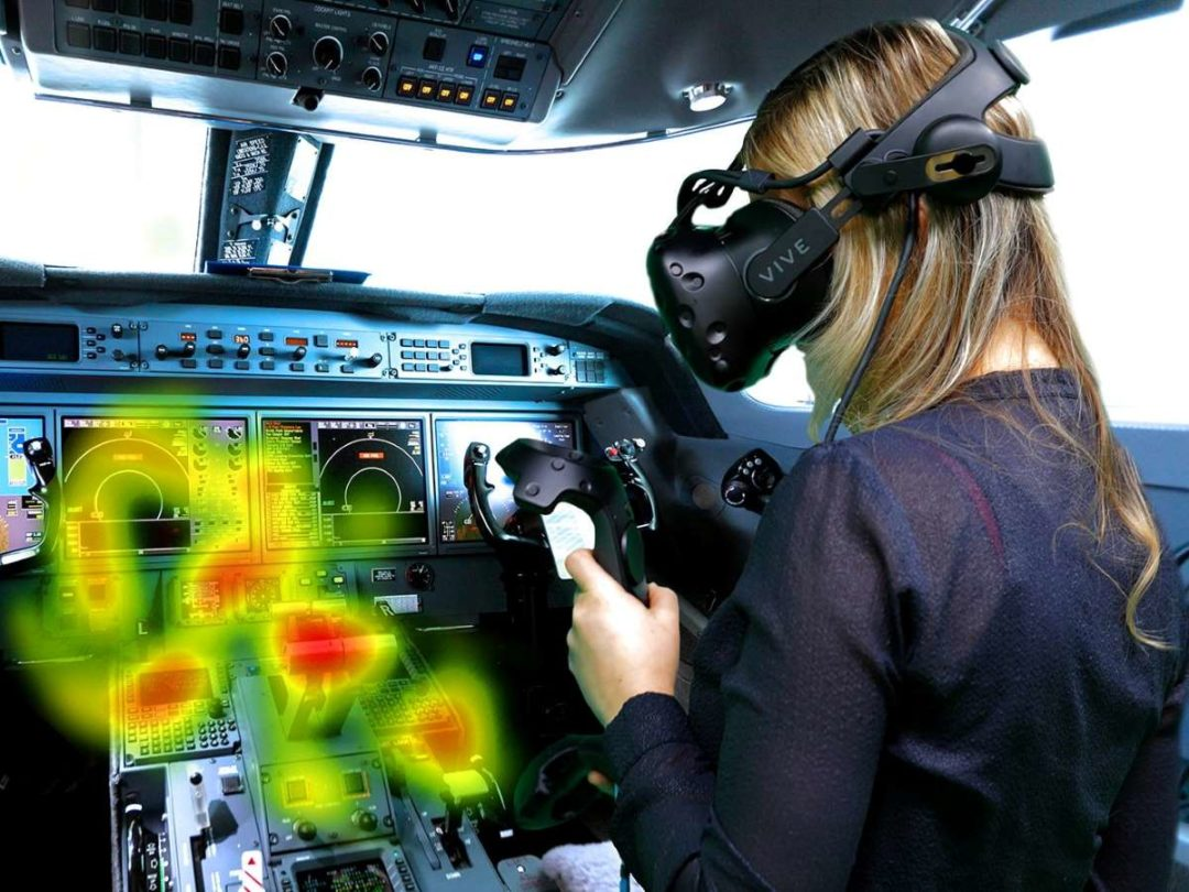 "Eye-tracking technology provides visibility to flight instructors regarding a student's ""gaze pattern"" during training events."