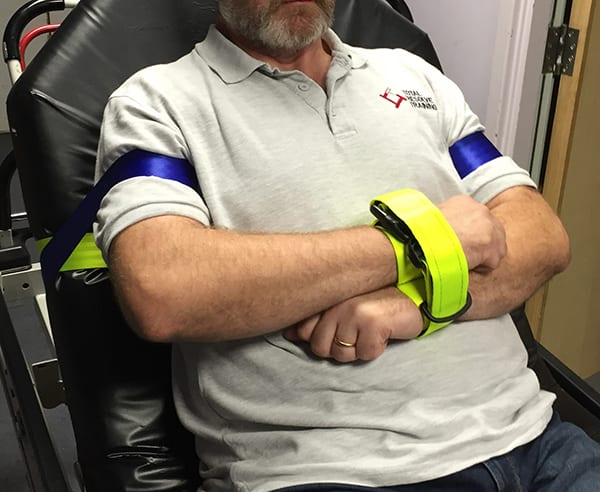 British Airways is a client of the Quik-Tie Soft Wrist Restraint for physically controlling aggressive individuals while reducing the potential risk of injury. Image credit: Total Resolve Training.