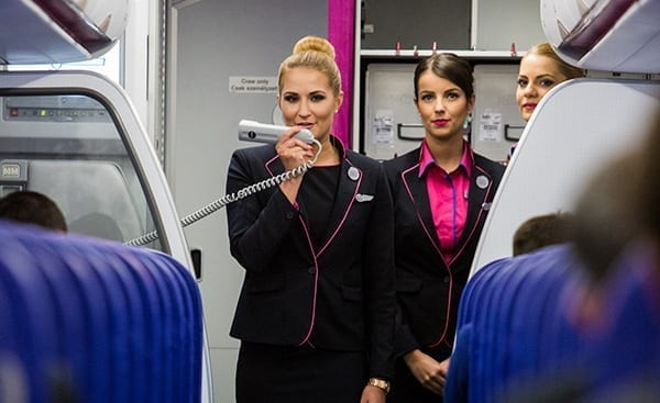 There are over 2,800 cabin crew employed by Wizz Air and recruiting is ongoing. Image credit: Wizz Air.