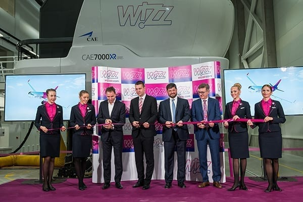 Two CAE 7000XR A320 FFSs are installed in the new training centre. Image credit: Wizz Air.