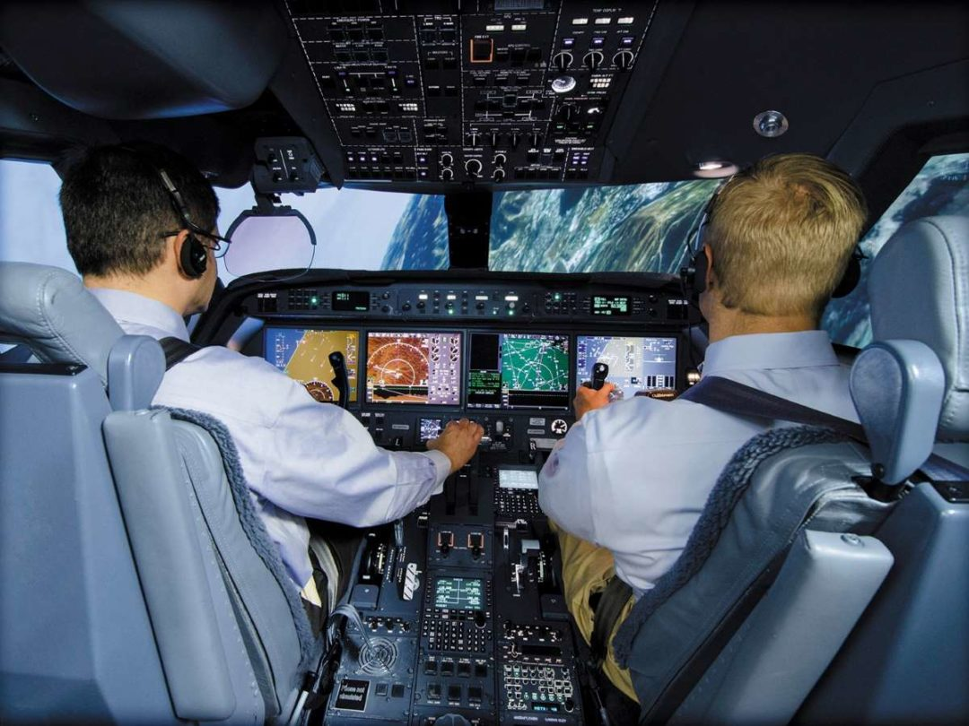 The FlightSafety UPRT program was first offered in a Gulfstream G550 simulator.