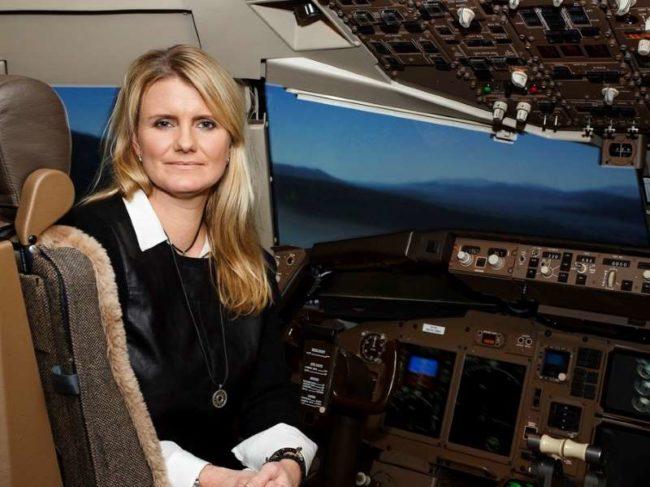 Icelandair Chief Pilot, Captain Linda Gunnarsdóttir.