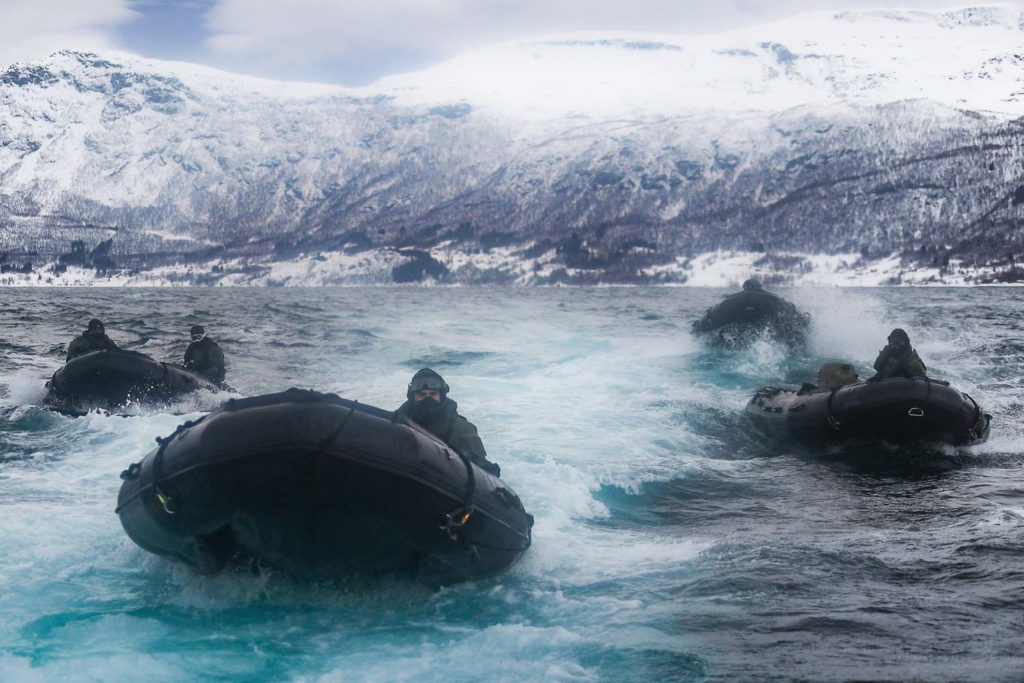 Royal Marines 45 Commando continue training in northern Norway with 47 Commando.