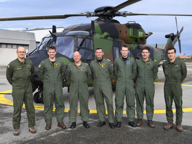 The Valence detachment, with NH-90TTH, ETPS tutors and French hosts.