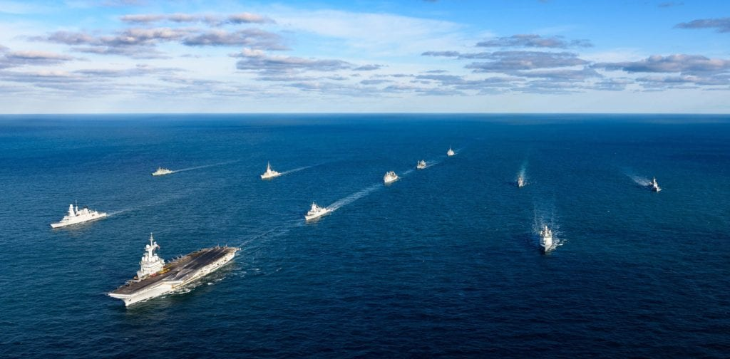 French carrier strike group
