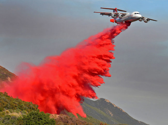 Neptune Aviation BAe146 firefighting aircraft.