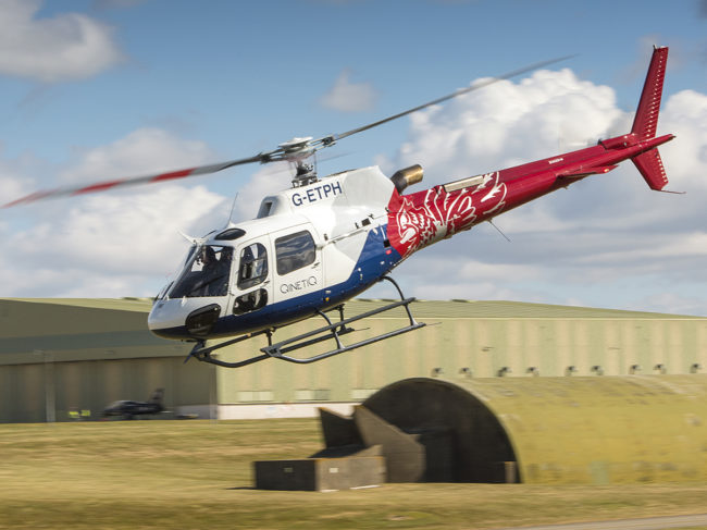 The Airbus H125B3e, workhorse of the ETPS rotary wing fleet.