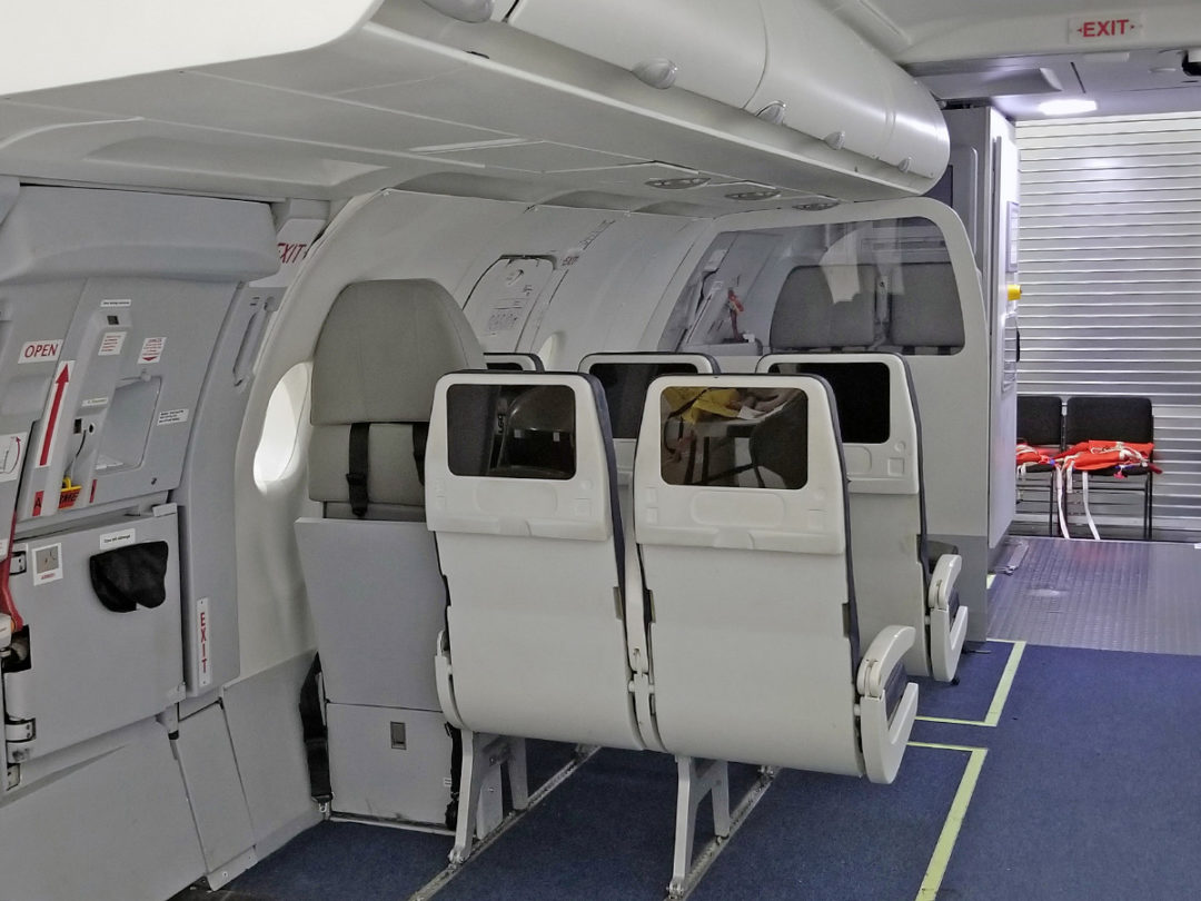 Spatial is supplying Aeroflot with two A321 door trainers for all exit types.