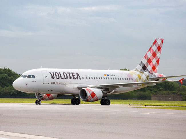 Volotea is gradually changing to an all-Airbus A319 fleet.