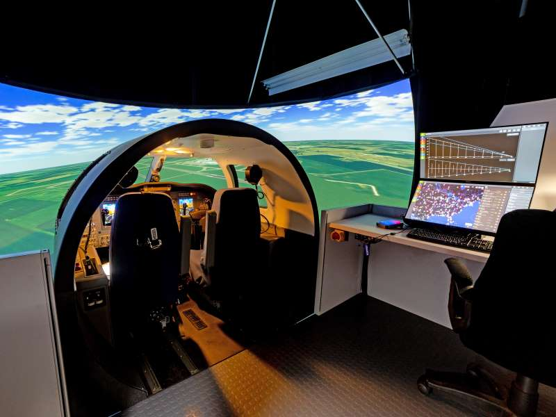 Frasca has developed and delivered hundreds of Flight Training Devices (including this one, with IOS) that include high fidelity modeling, extensive aero data packages, realistic cockpits, control loading and visual systems.