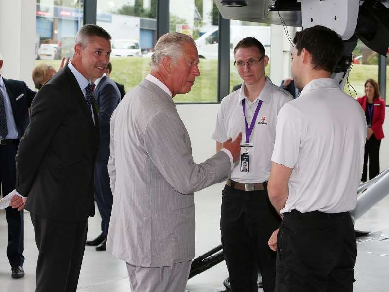 L3Harris made it a royal occasion when Prince Charles officially opened the new facility at Crawley.