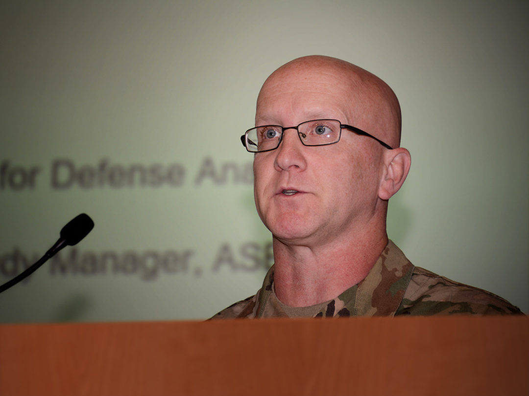 Colonel Scott Gilman, Deputy Director of the Army Modeling Simulation Office.