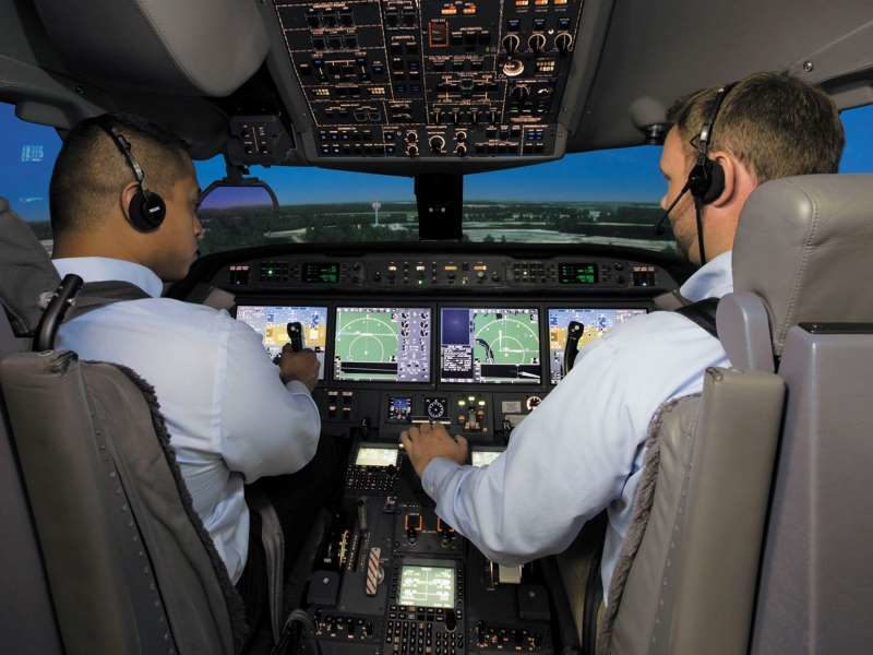 Are the recent developments and improvements in pilot training for airline operations being transferred to business jet operations?