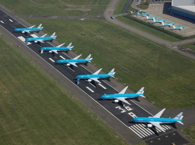 KLM parked aircraft