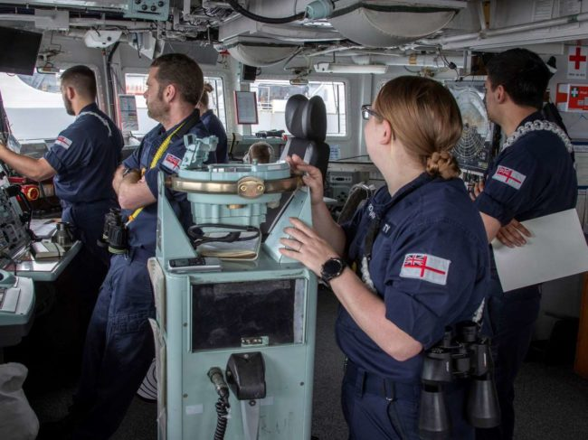 Royal Navy training