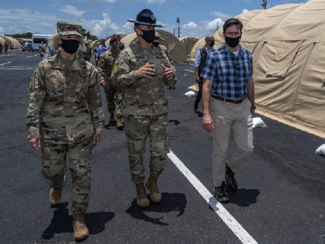 Secretary of Defense Observes How Training Has Adjusted Through COVID-19