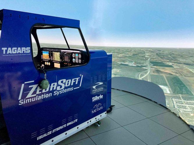 MetaVR Visuals in FAA Simulator