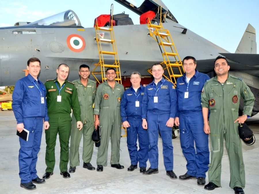Indian Russian Air Force pilots IAF SU-30 MKI aircraft