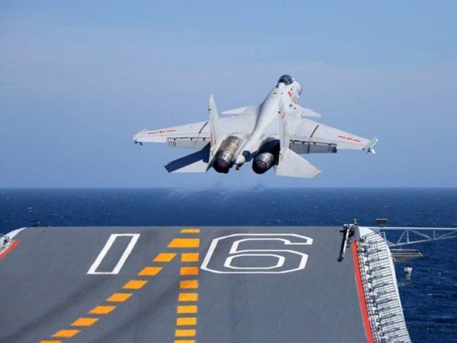 PLA Navy flight training