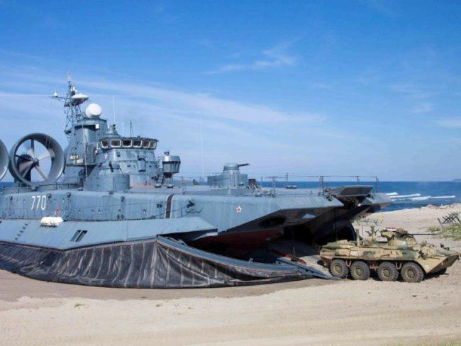 Russian Baltic Fleet hovercraft