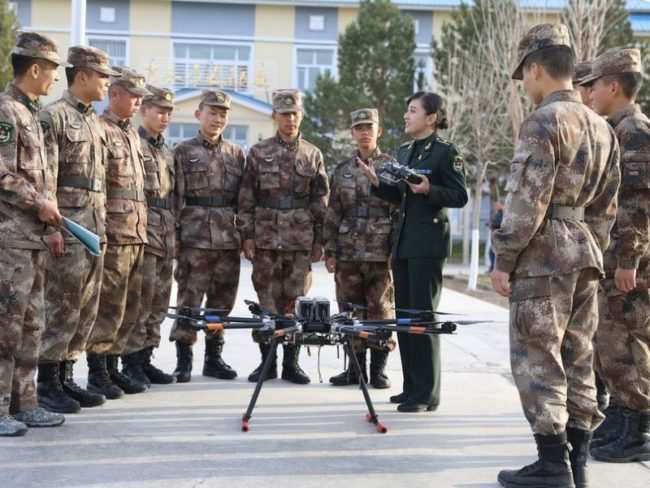 Chinese drone training
