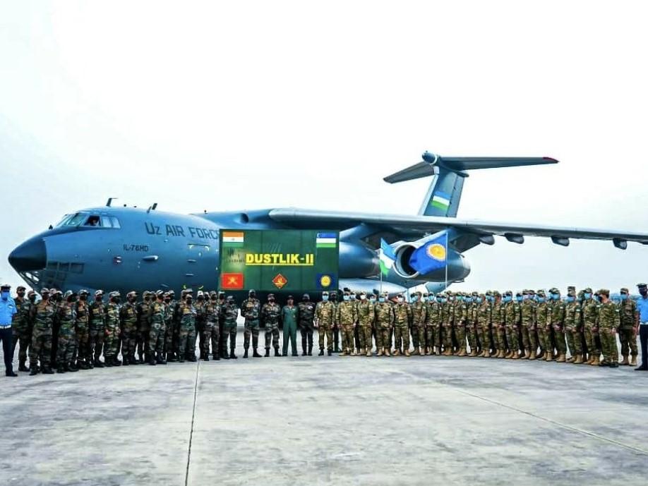Indo uzbekistan exercise dustlik ii underway