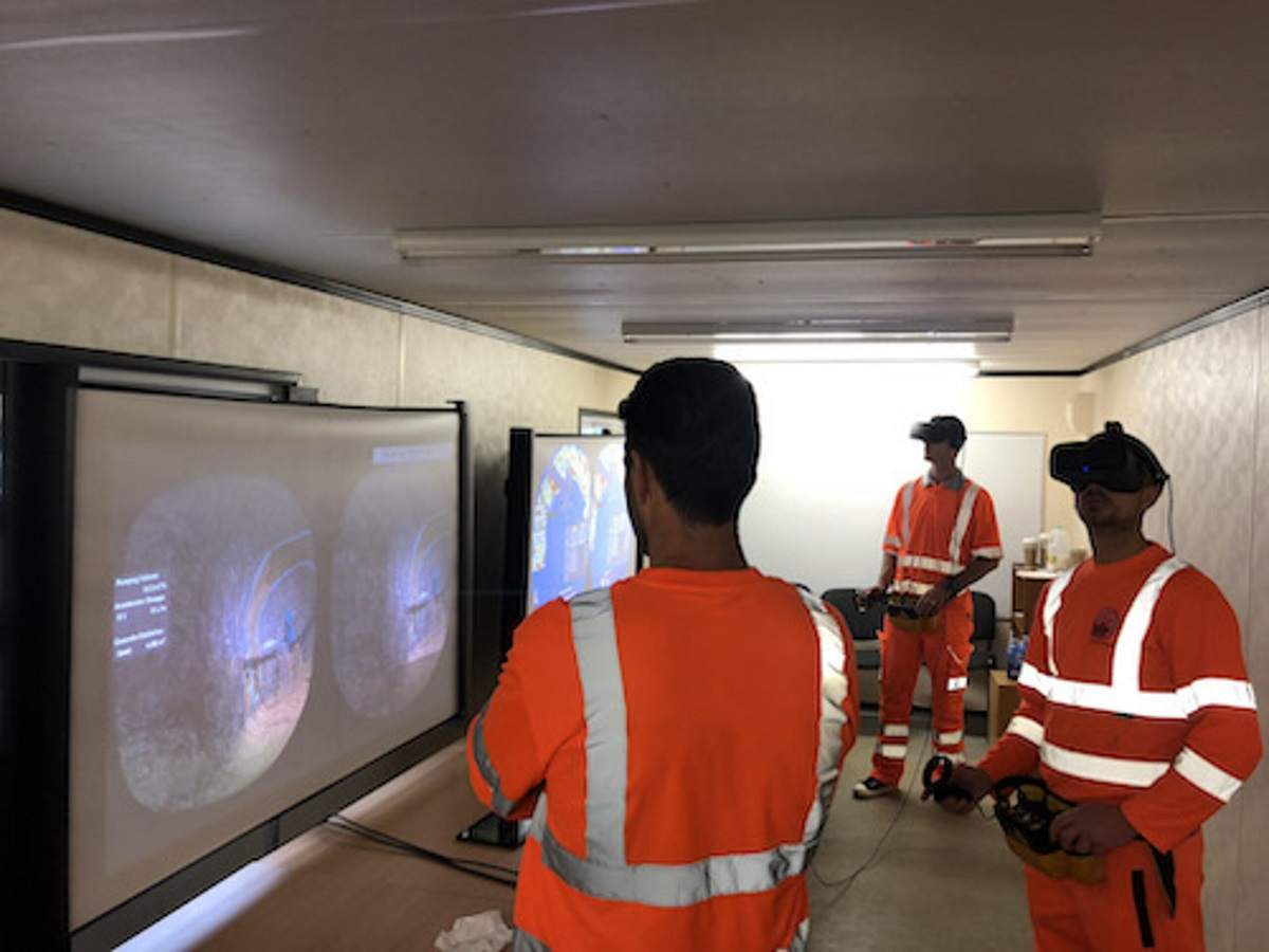 Tunnel operators training with edvirt s product the vr shotcrete simulator e3661e483b