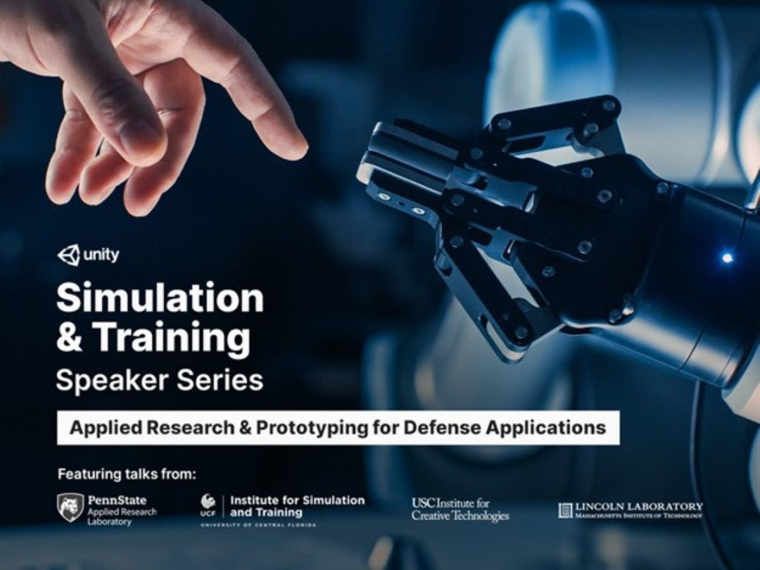 Simulation & Training Speaker Series: Applied Research & Prototyping for Defense Applications