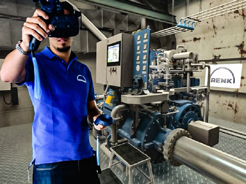 Virtual reality gearbox maintenance training  renk