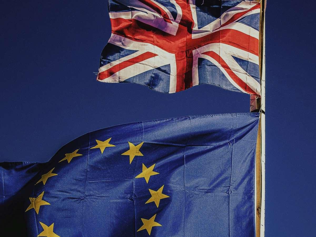 UK Europe flags