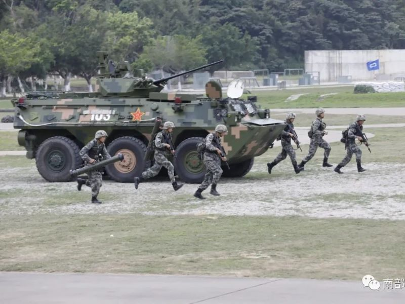 Chinese plas tactical training