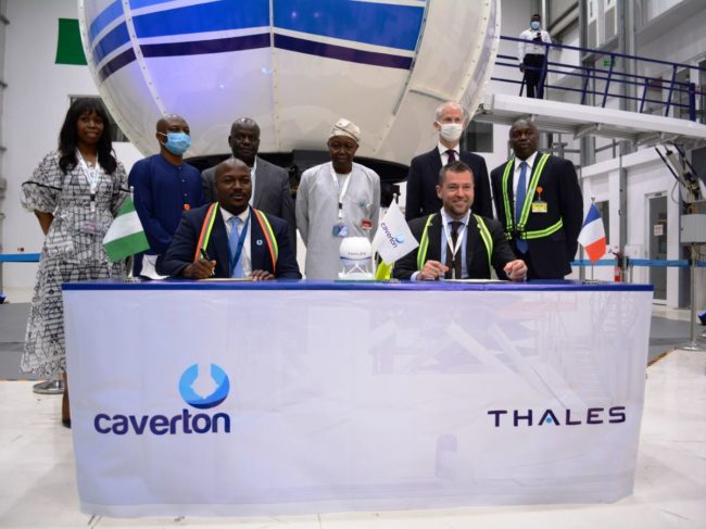 Thales Reality H acceptance ceremony Caverton