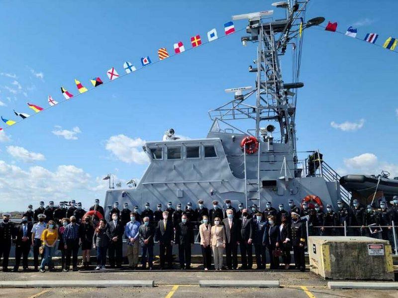 Ukrainian navy patrol boat training