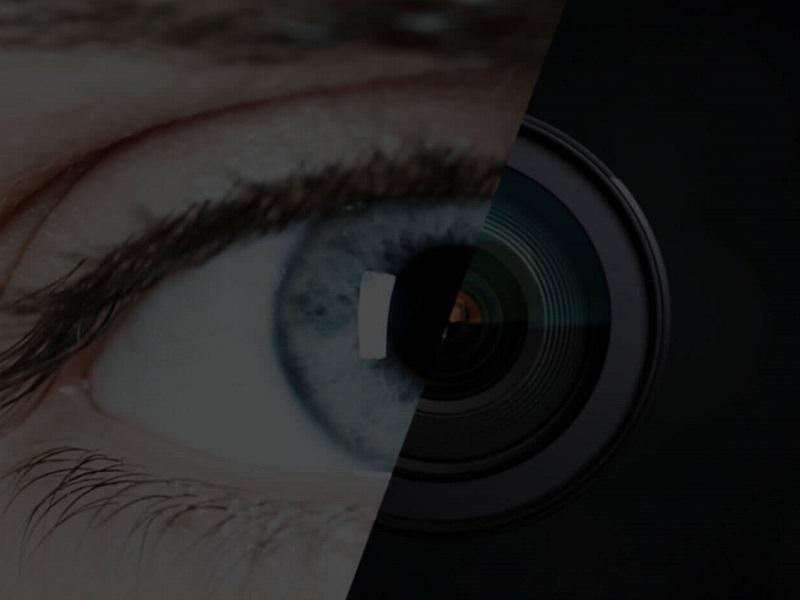Smarteye konceptbild eye camera dark