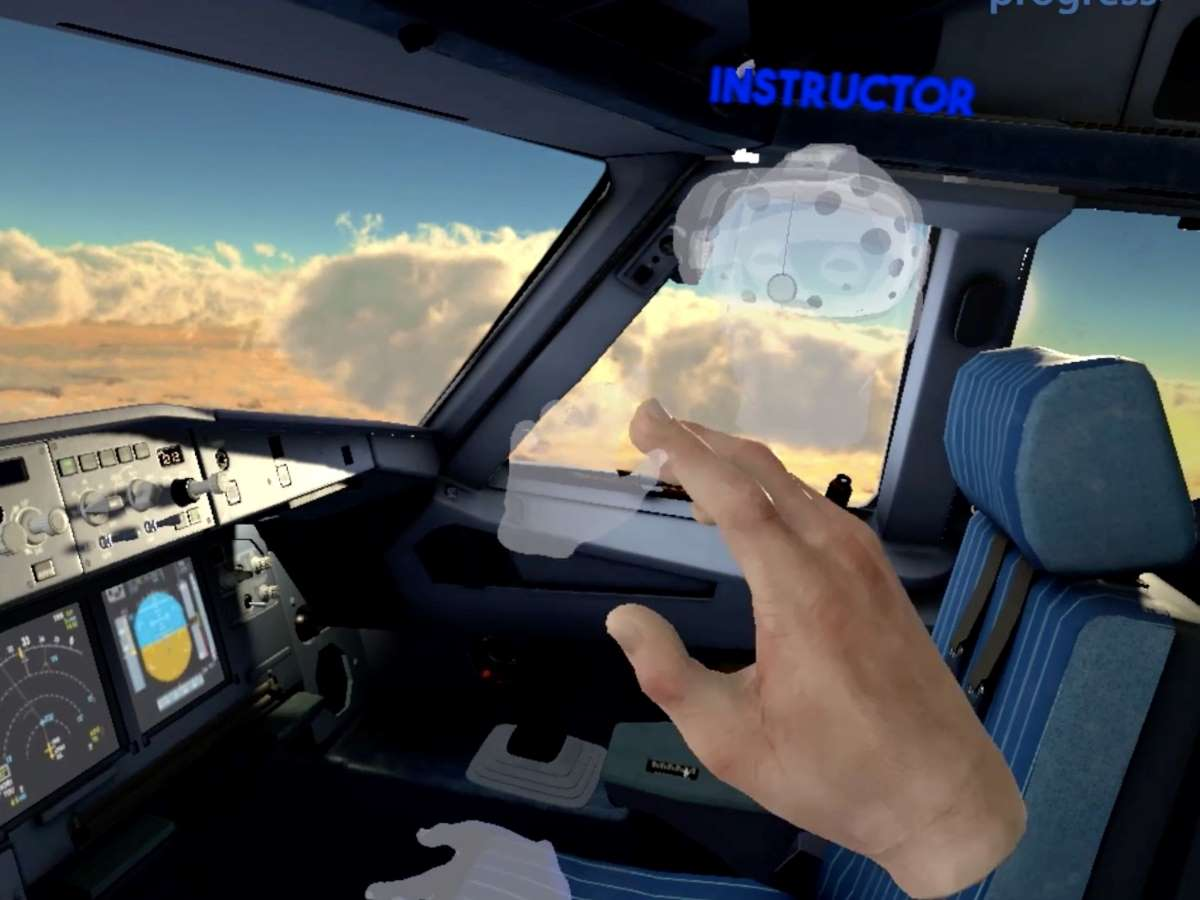 Vr flight trainer with instructor