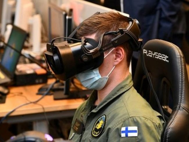Finnish Air Force Varjo Patria Bohemia Interactive Simulations LVC Training