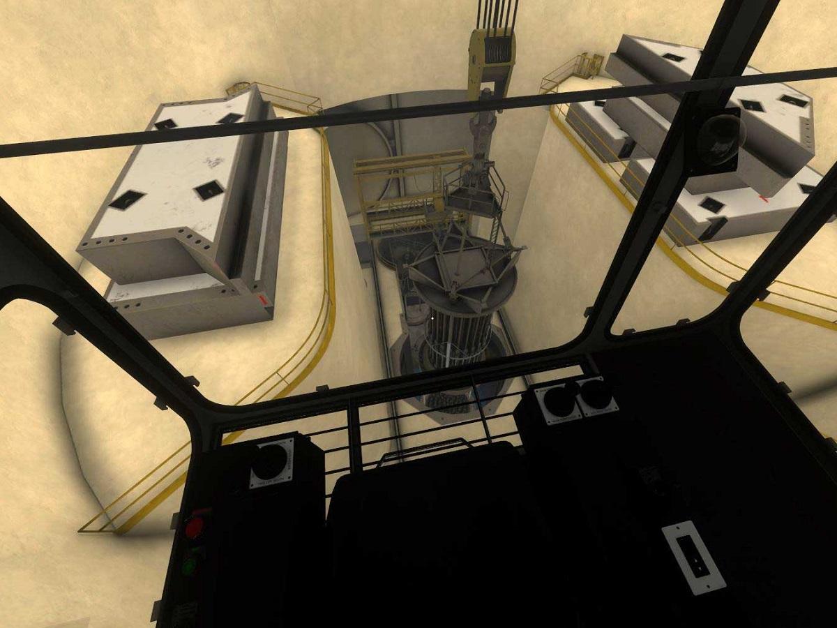 Polar crane reactor head 3 web 1